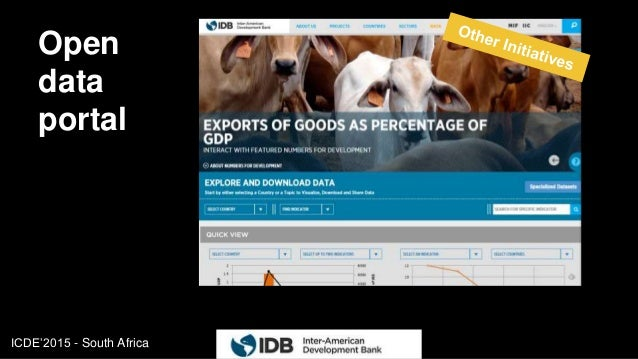 ICDE'2015 - South Africa Open data portal 17