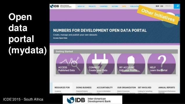 ICDE'2015 - South Africa Open data portal (mydata) 19