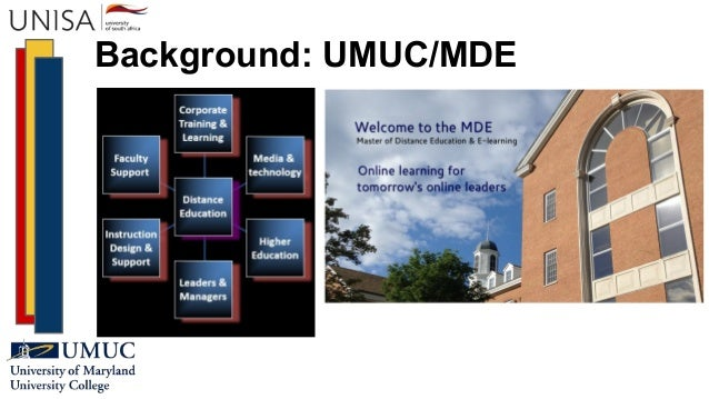 Background: UMUC/MDE