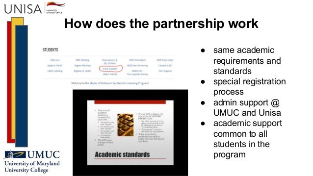 How does the partnership work ● same academic requirements and standards ● special registration process ● admin support @ ...