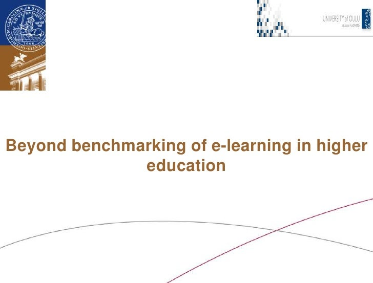 Beyond benchmarking of e-learning in higher education<br />