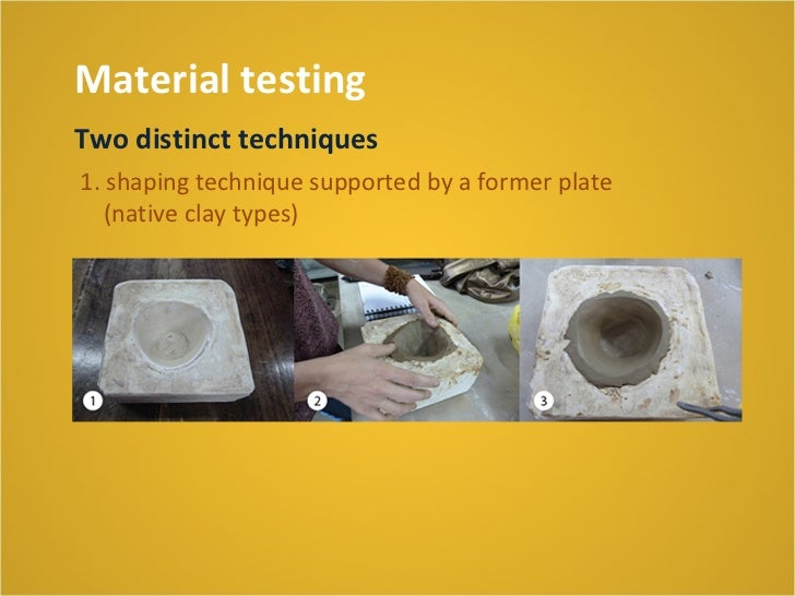 Material testingBakingThe baking experiments were carried out using anelectric oven (Etil) by 1200°C, within 20 hours
