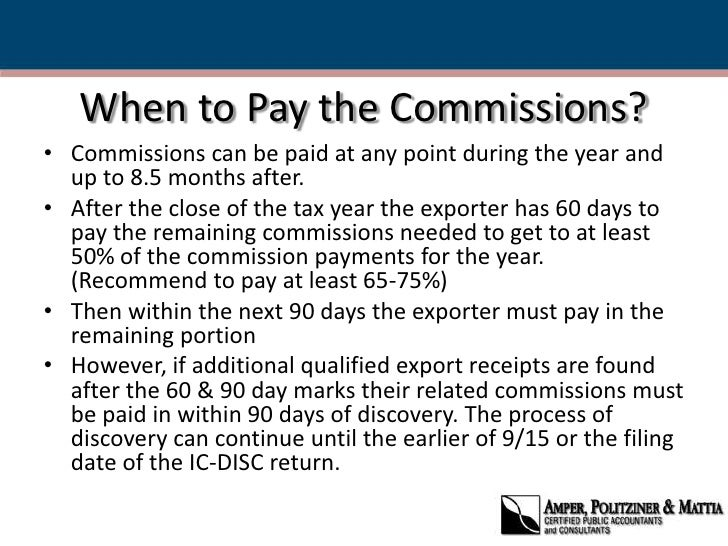 IC-Disc: An Export Tax Incentive