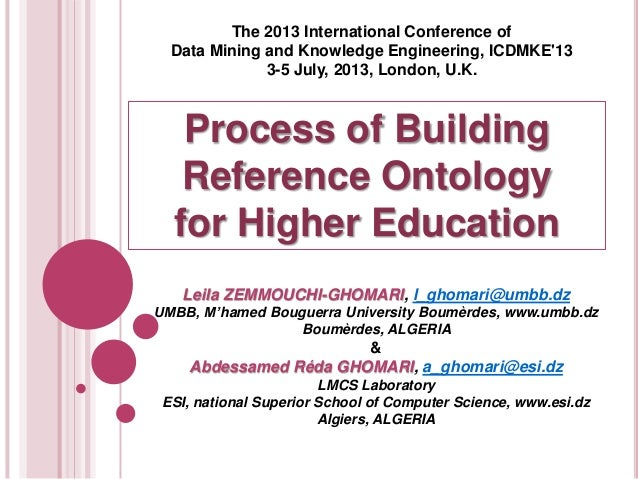 The 2013 International Conference of Data Mining and Knowledge Engineering, ICDMKE'13 3-5 July, 2013, London, U.K.  Proces...