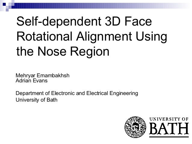 Self-dependent 3D face rotational alignment using the nose