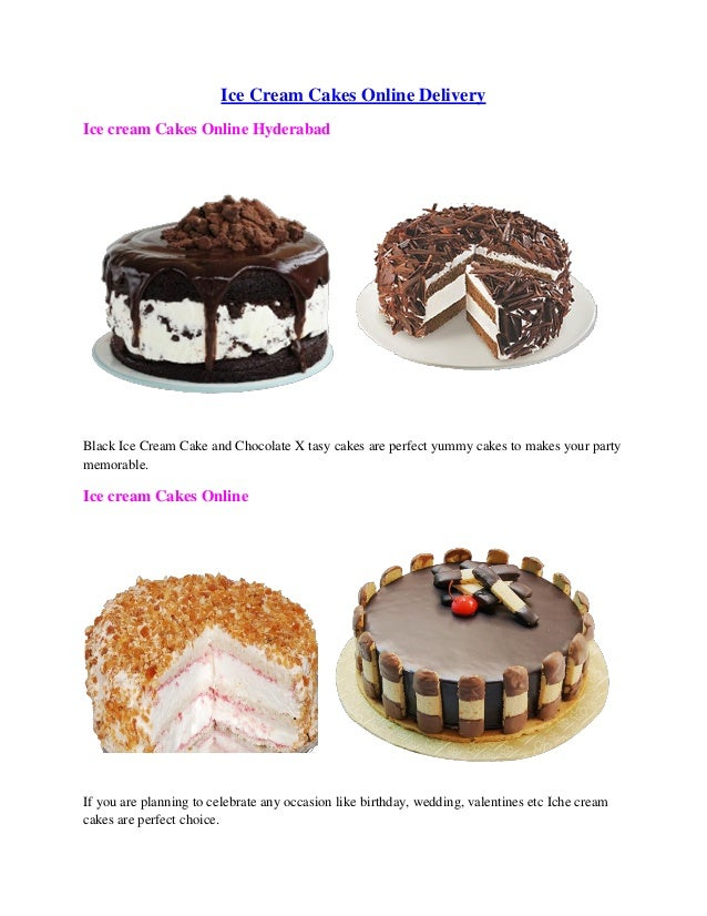 Ice Cream Cakes Online Delivery Hyderabad Black Cake And Chocolate