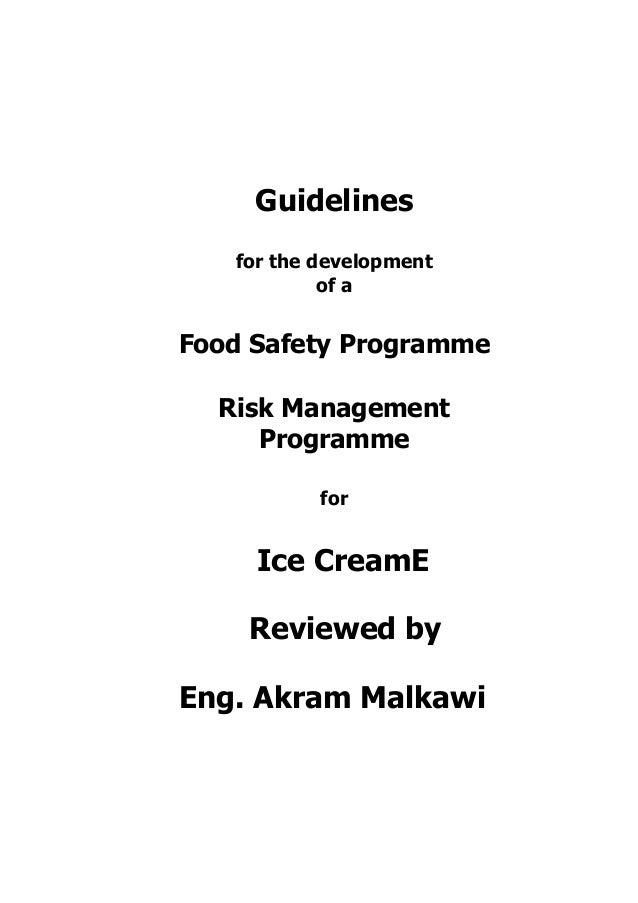 ICE CREAM HACCP GUIDLINES