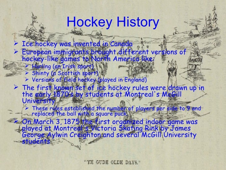 an analysis of the early hockey years in canada National hockey league media coverage: a history of passion and struggles  from tsn and will grant the network creative direction of cbc's hockey night in canada.