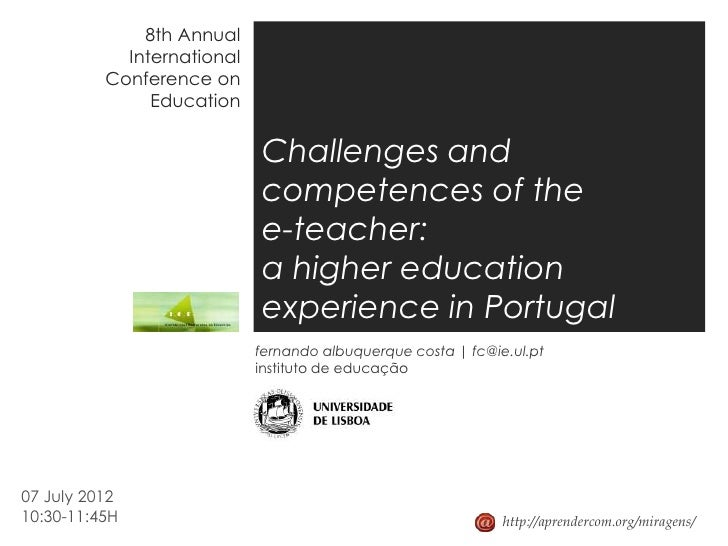 8th Annual            International          Conference on               Education                            Challenges a...