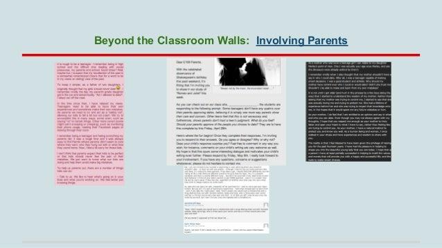 Beyond the Classroom Walls: Involving Parents