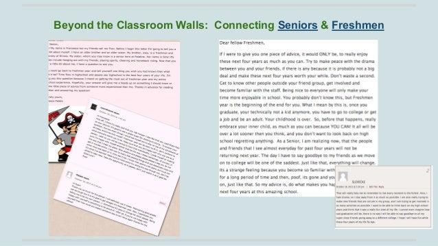 Beyond the Classroom Walls: Connecting Seniors & Freshmen