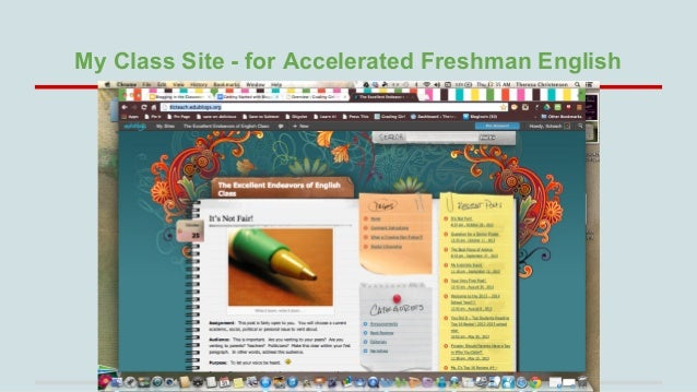 My Class Site - for Accelerated Freshman English