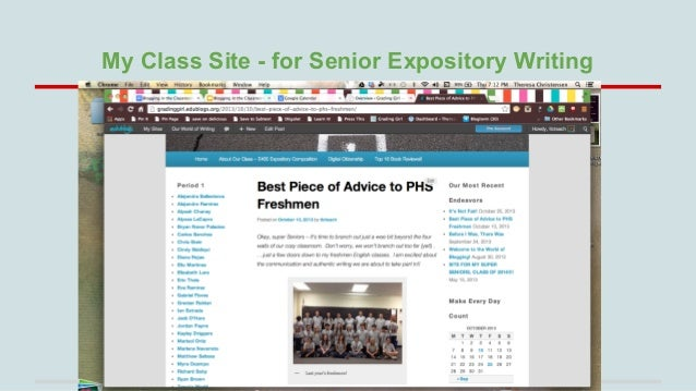 My Class Site - for Senior Expository Writing