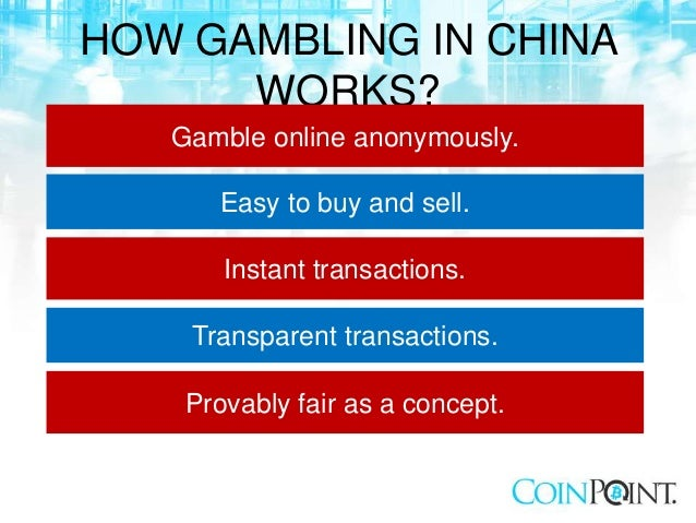 Bitcoin Gambling in China slideshare - 웹