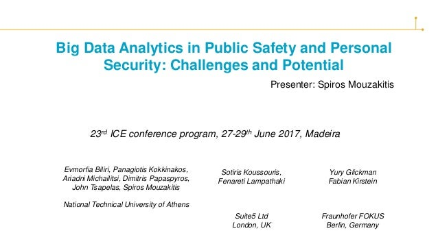 Big Data Analytics in Public Safety and Personal Security: Challenges and Potential Evmorfia Biliri, Panagiotis Kokkinakos...