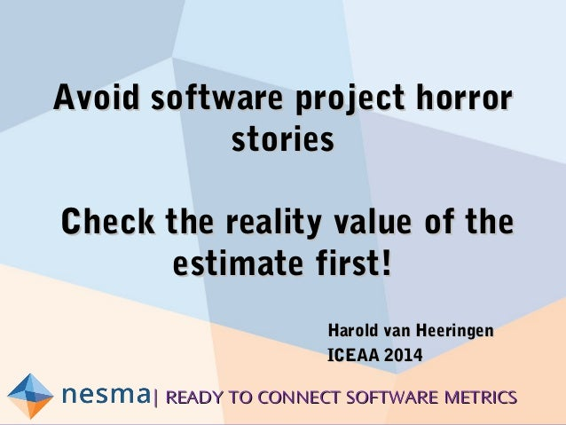| READY TO CONNECT SOFTWARE METRICS| READY TO CONNECT SOFTWARE METRICS Avoid software project horrorAvoid software project...