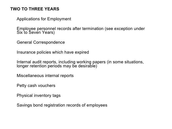 <ul><li>TWO TO THREE YEARS </li></ul><ul><li> </li></ul><ul><li> Applications for Employment </li></ul><ul><li> </li></...