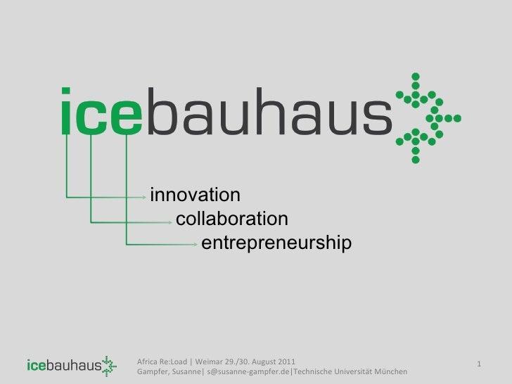 innovation collaboration entrepreneurship Africa Re:Load | Weimar 29./30. August 2011 Gampfer, Susanne| s@susanne-gampfer....