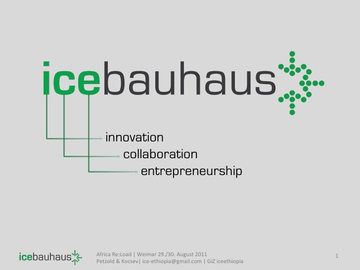 innovation       collaboration          entrepreneurshipAfrica Re:Load   Weimar 29./30. August 2011           ...