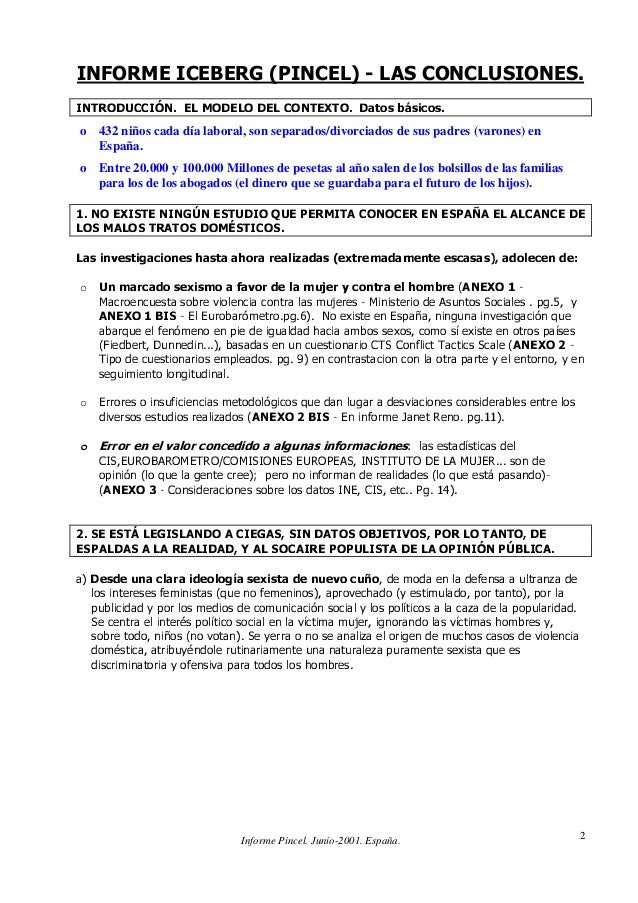 Informe Pincel. Junio-2001. España. 2 ,1)250(,(%(5*3,1(/