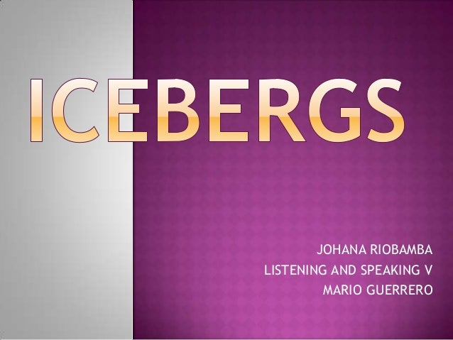 JOHANA RIOBAMBA LISTENING AND SPEAKING V MARIO GUERRERO