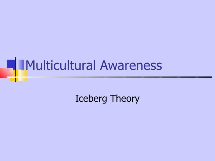Multicultural Awareness        Iceberg Theory