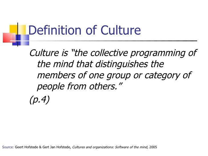 hofstede definition of culture