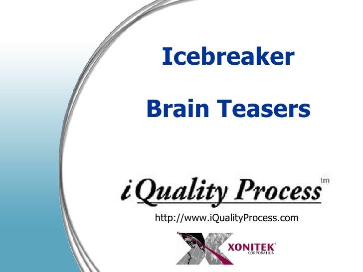 Icebreaker Brain Teasers