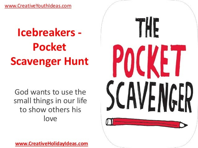 icebreakers pocket scavenger hunt. Black Bedroom Furniture Sets. Home Design Ideas