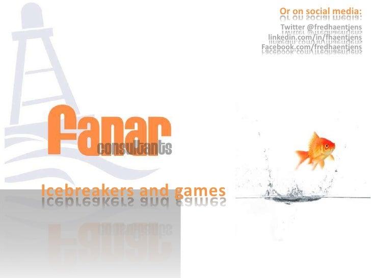 Or on social media:                              Twitter @fredhaentjens                          linkedin.com/in/fhaentjen...