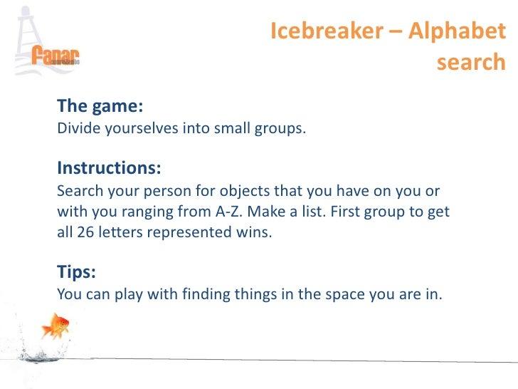Adult ice breaker activity