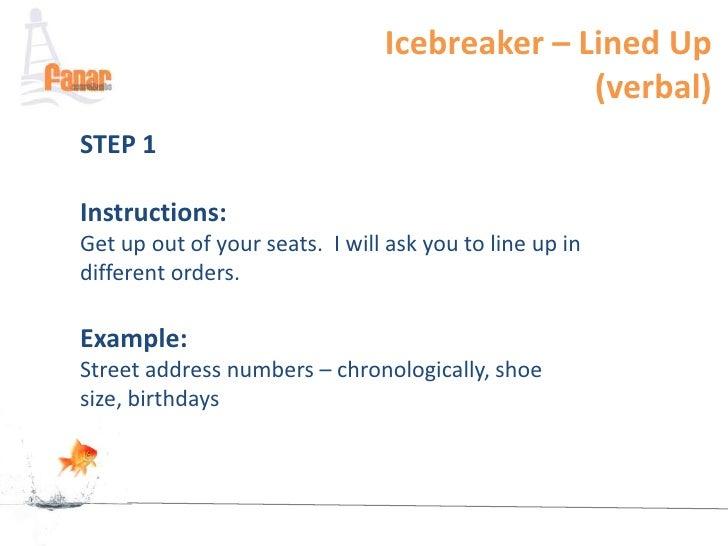 Example of ice breakers