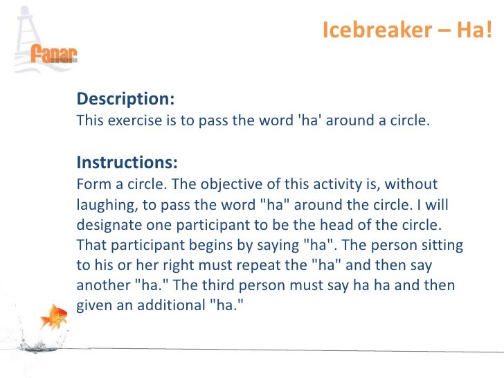 activity adult icebreaker