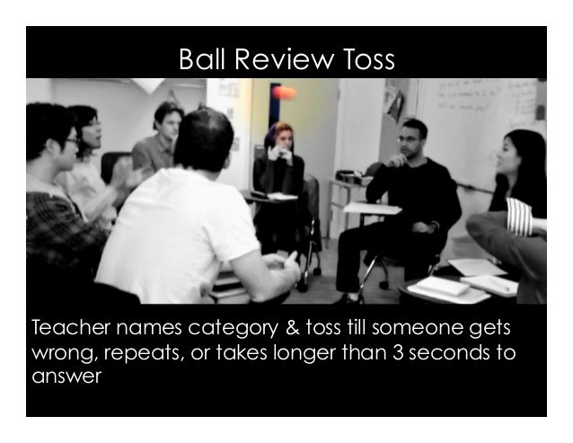 Ball Review Toss Image, Q: Can I kick it? A: Yes, you can, by Todd, Flickr Teacher names category & toss till someone gets...