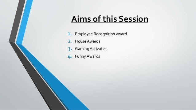 Ice breaking activites or funny nomination awards
