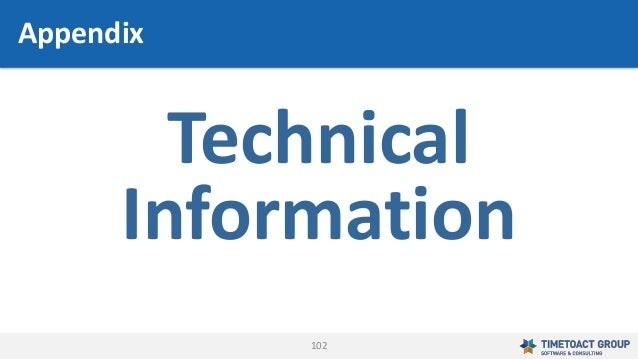 102 Technical Information Appendix