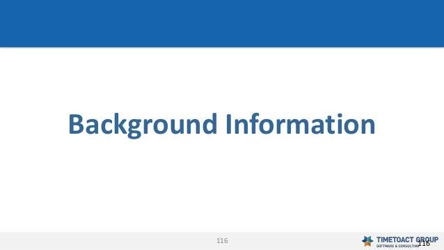116 Background Information 116