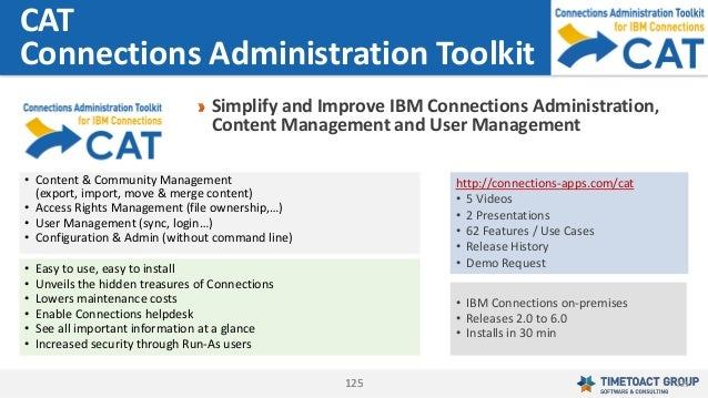 125125 Simplify and Improve IBM Connections Administration, Content Management and User Management CAT Connections Adminis...