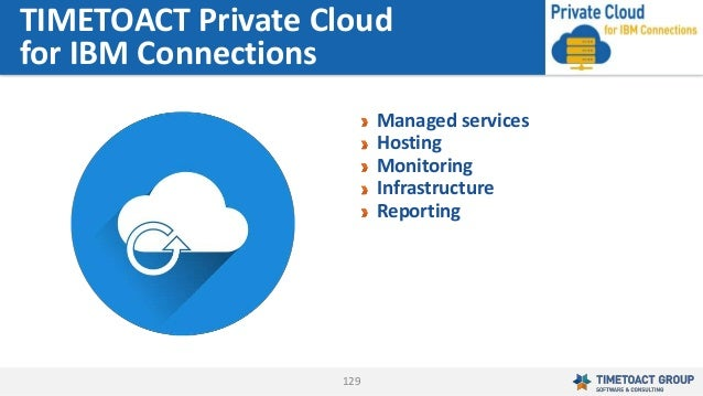 129 Managed services Hosting Monitoring Infrastructure Reporting TIMETOACT Private Cloud for IBM Connections