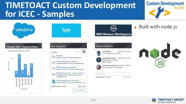 138 TIMETOACT Custom Development for ICEC - Samples Built with node.js