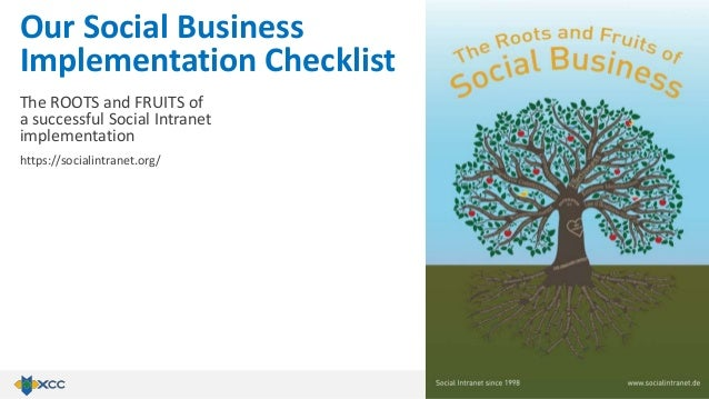 The ROOTS and FRUITS of a successful Social Intranet implementation https://socialintranet.org/ Our Social Business Implem...