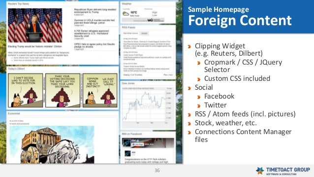36 Clipping Widget (e.g. Reuters, Dilbert) Cropmark / CSS / JQuery Selector Custom CSS included Social Facebook Twitter RS...
