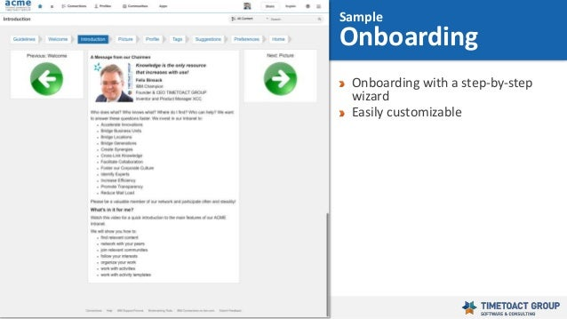 42 Onboarding with a step-by-step wizard Easily customizable Sample Onboarding