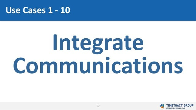 57 Integrate Communications Use Cases 1 - 10