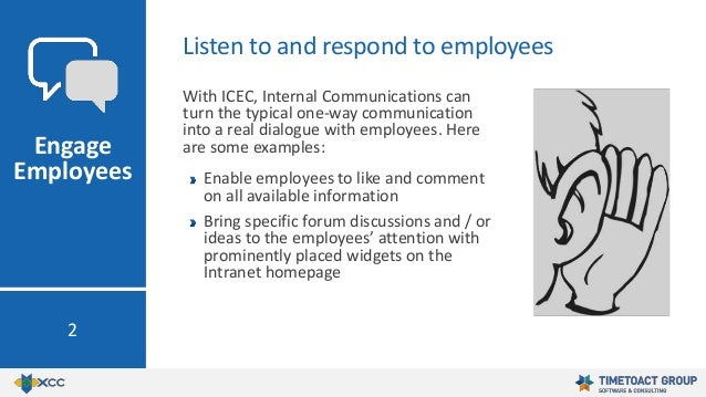 With ICEC, Internal Communications can turn the typical one-way communication into a real dialogue with employees. Here ar...