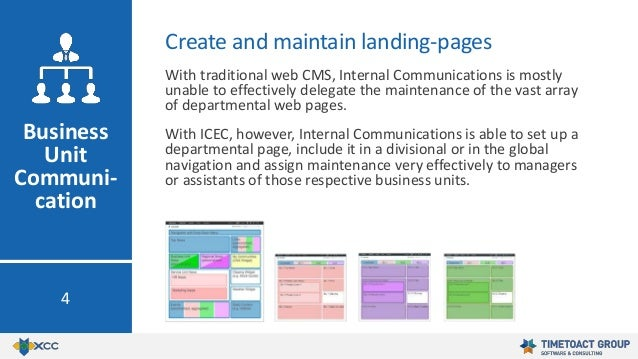 With traditional web CMS, Internal Communications is mostly unable to effectively delegate the maintenance of the vast arr...