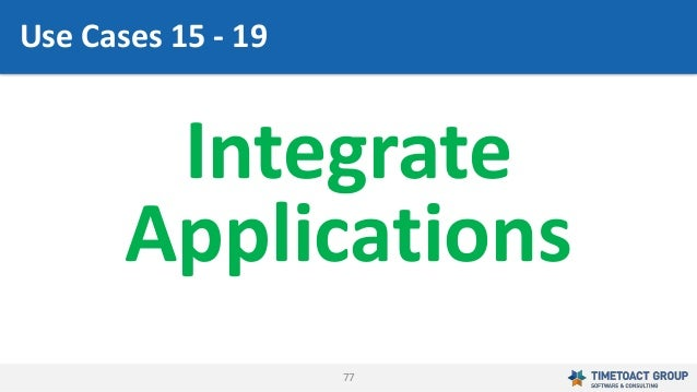 77 Integrate Applications Use Cases 15 - 19
