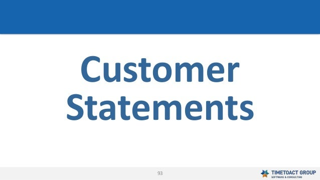 93 Customer Statements
