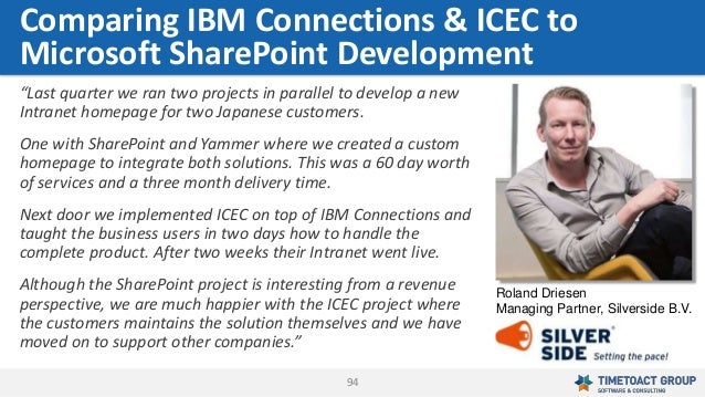 """94 """"Last quarter we ran two projects in parallel to develop a new Intranet homepage for two Japanese customers. One with S..."""