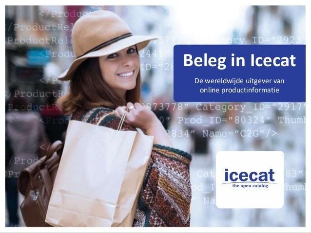 Beleg in Icecat De wereldwijde uitgever van online productinformatie